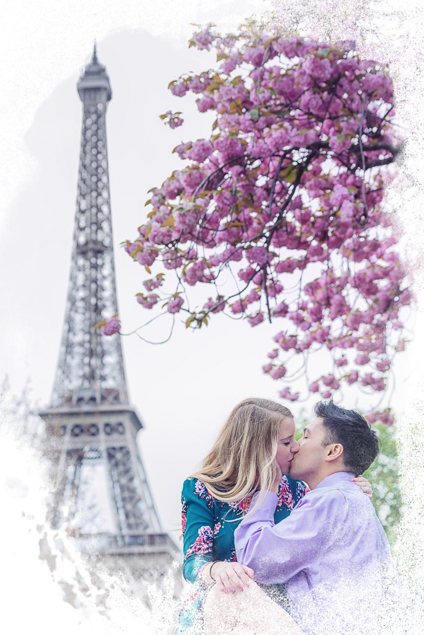 spring paris engagement session