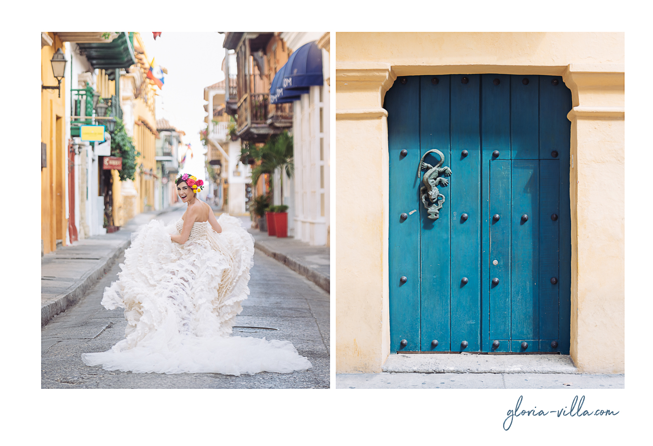 bride in cartagena having fun dyptic 2-1