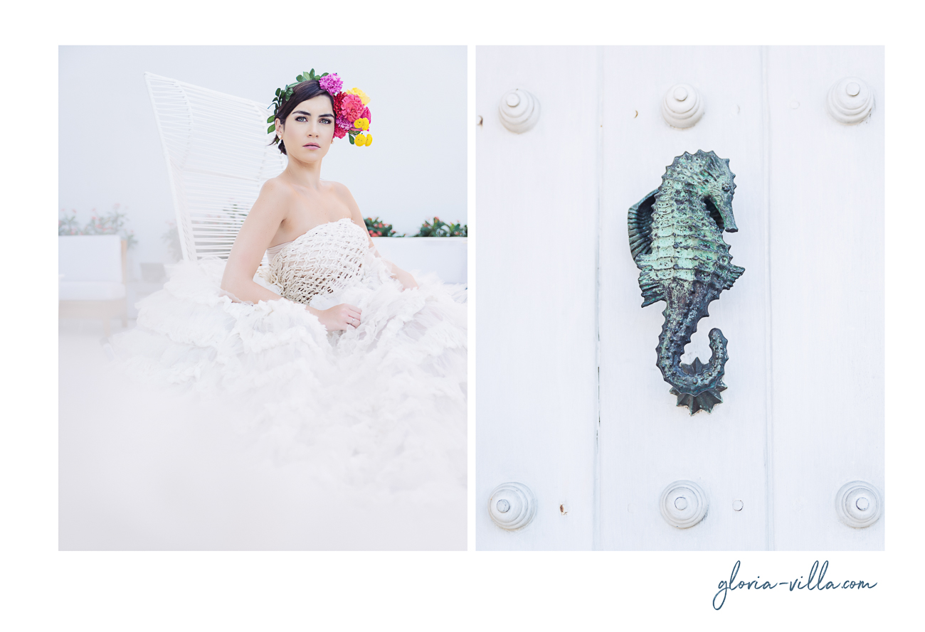 editorial bride portrait in cartagena dyptic 2-2