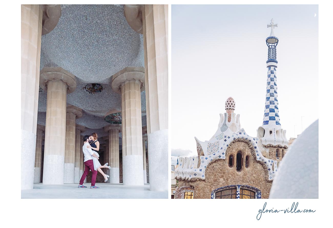 gloria-villa-engagement-barcelona-columns