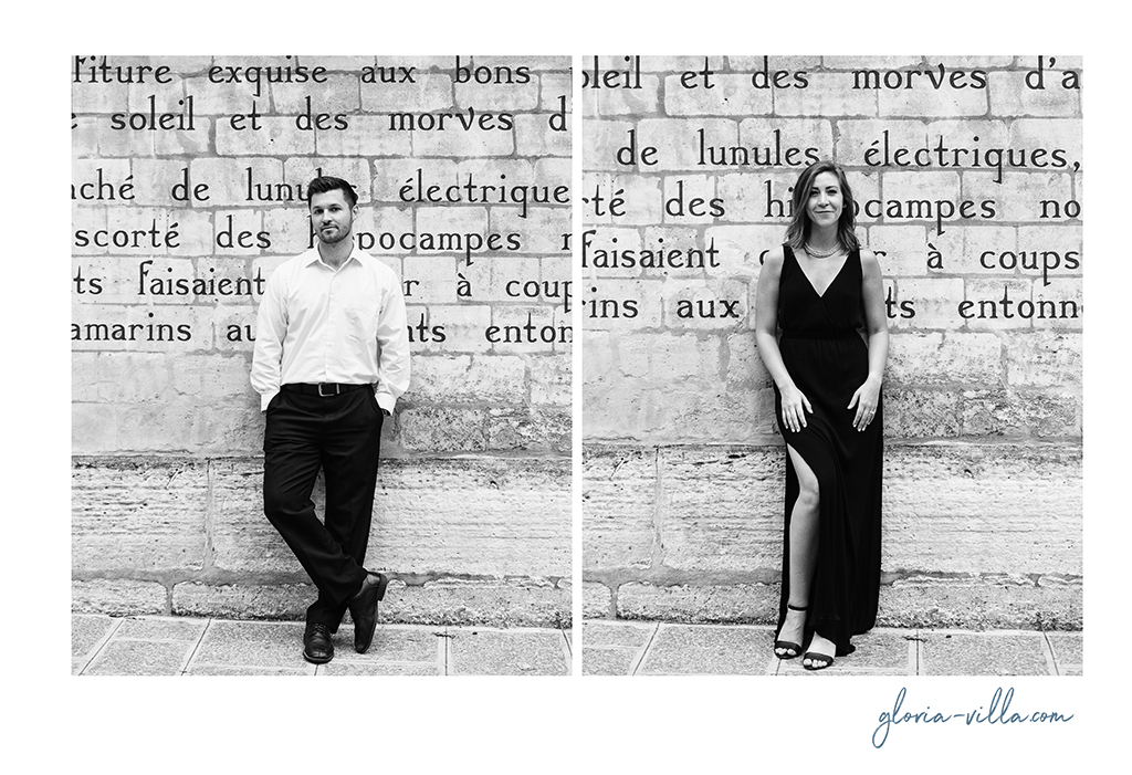 paris literature engagement shoot