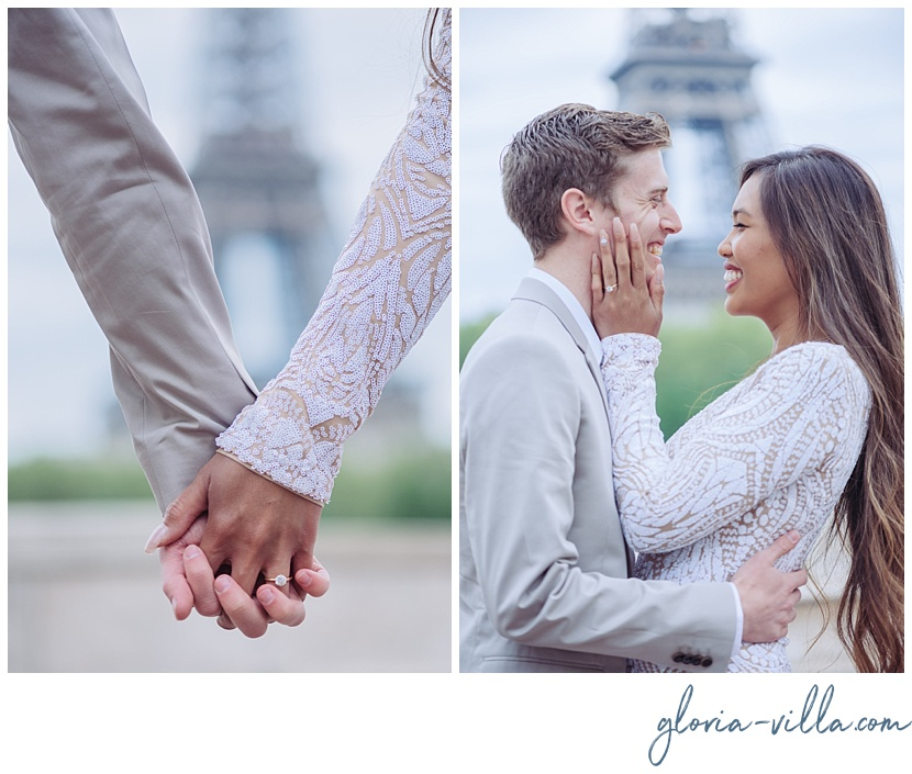 Parisian engagement photographer