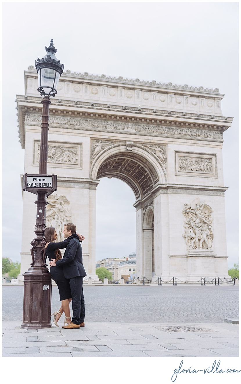 paris proposal photographer arch of triumph