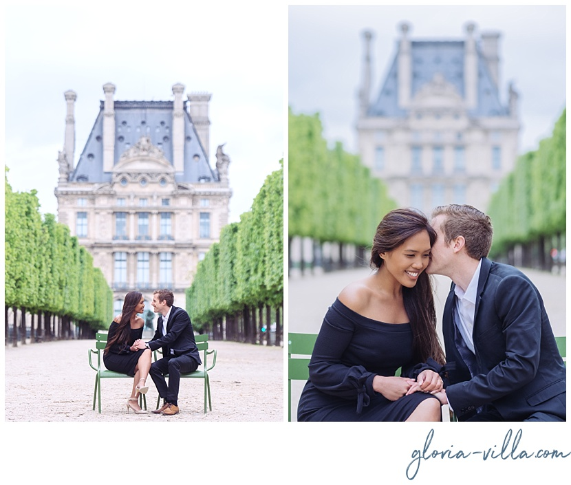 best paris engagement photographer gloria villa