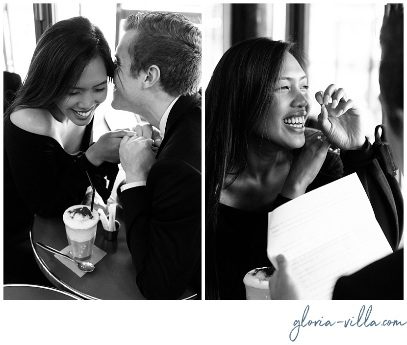 gloria villa parisian cafe engagement