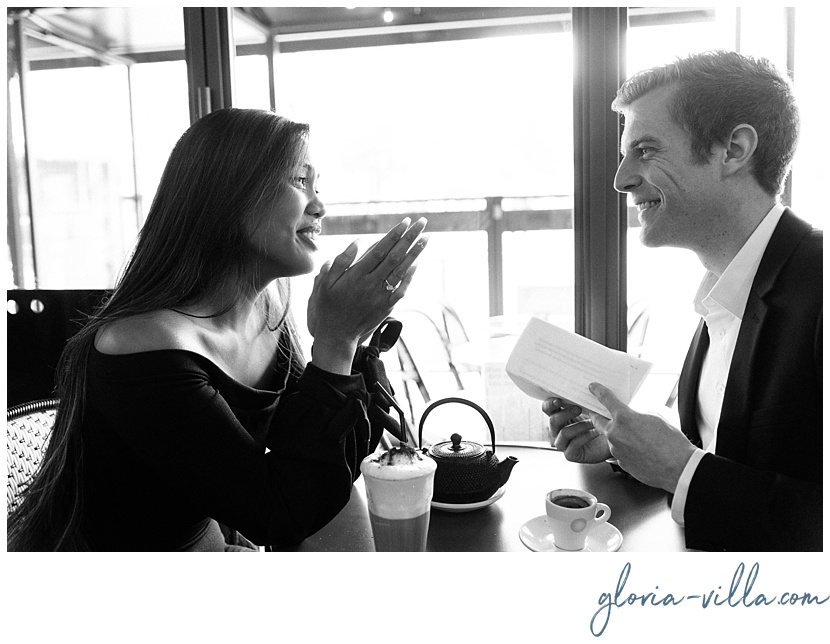 gloria villa paris proposal photographer cafe