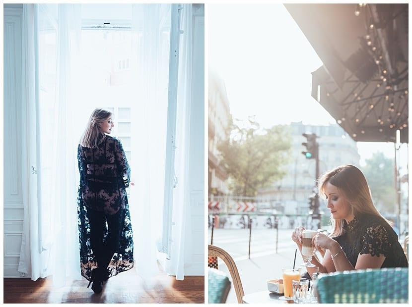 cafe portrait boudoir photography in Paris by gloria villa