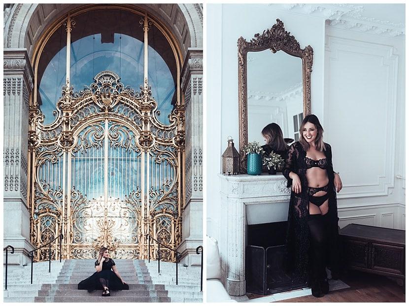 boudoir photography in Paris by gloria villa outdoors