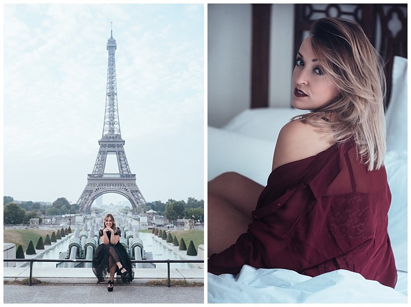boudoir photography in Paris by gloria villa portrait intimate