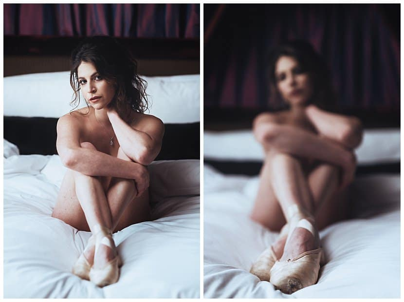 boudoir photography in Paris by gloria villa ballerina shoes