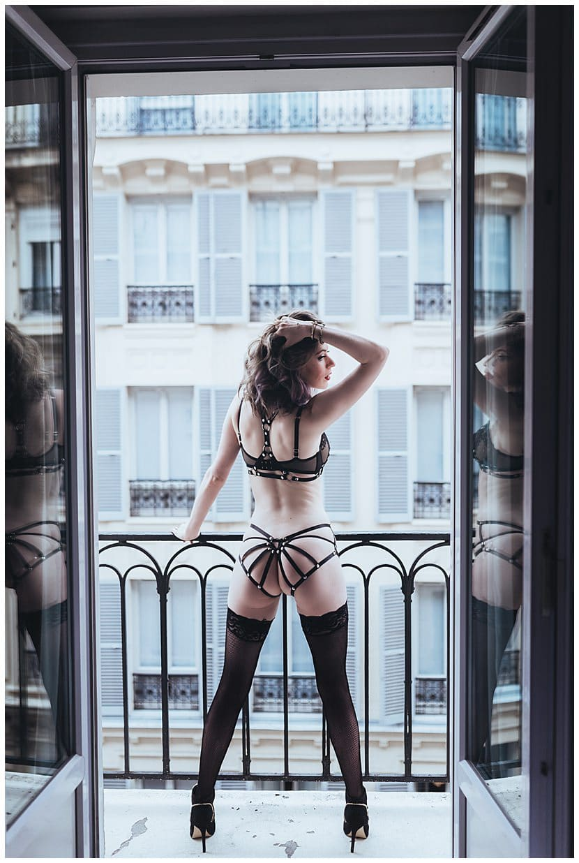 boudoir photography in Paris by gloria villa sexy
