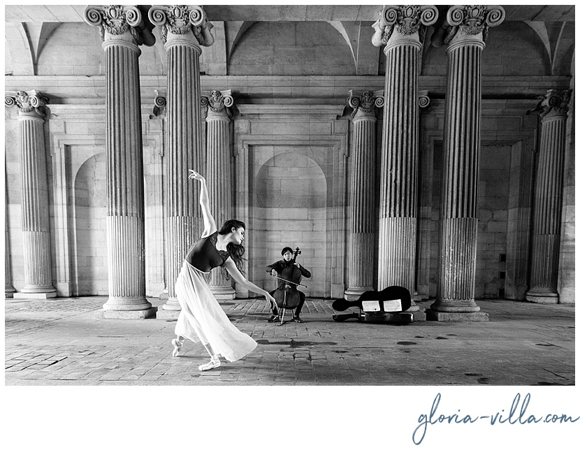 dancing in paris photoshoot with the ballerina and gloria villa
