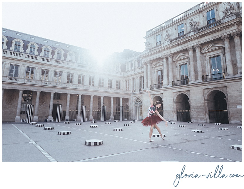 paris photoshoot with the ballerina