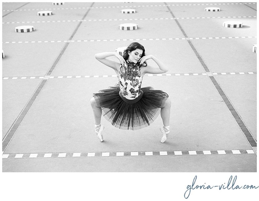 The ballerina dancing during her paris photoshoot