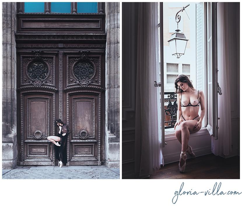 Parisian experiencience with boudoir photoshoot gloria villa and the ballerina