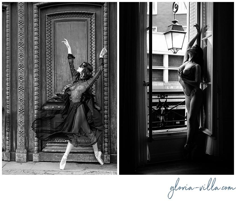 elegant boudoir photoshoot in paris with gloria villa