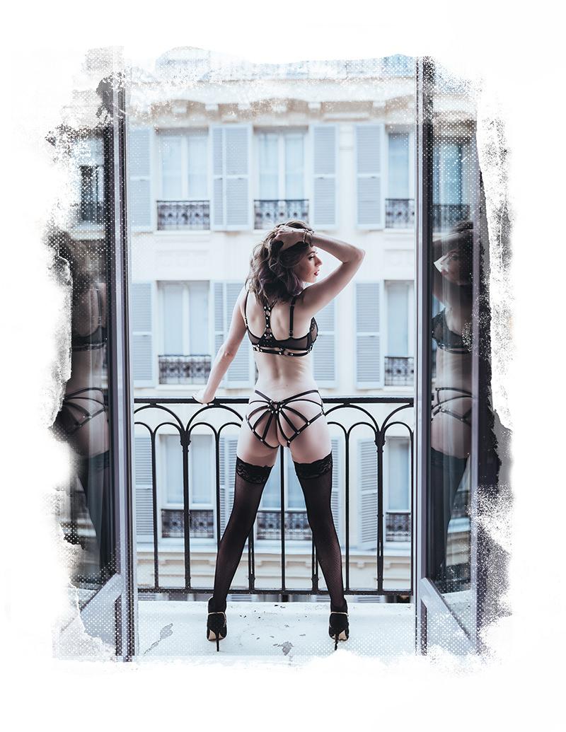 sesión de fotos de boudoir sexy paris gloria villa