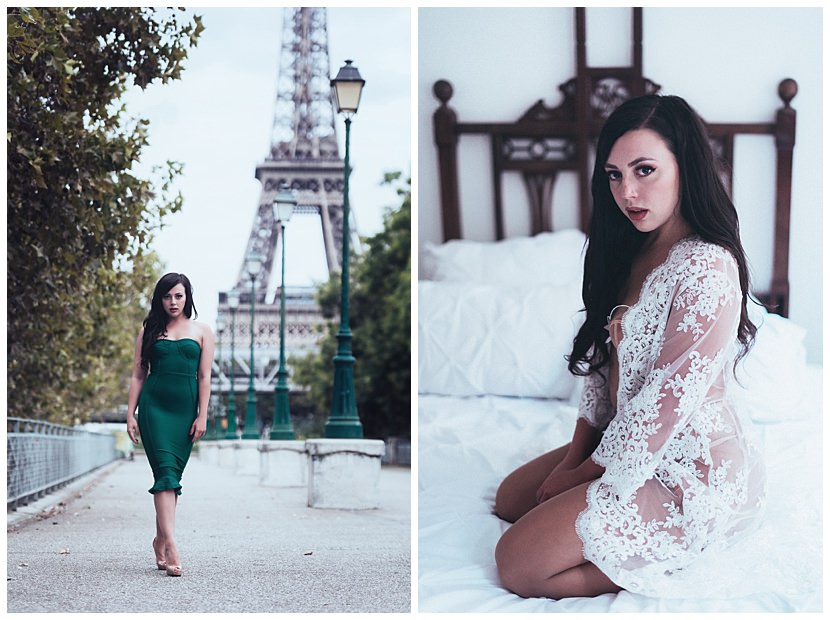 paris boudoir photoshoot with gloria villa