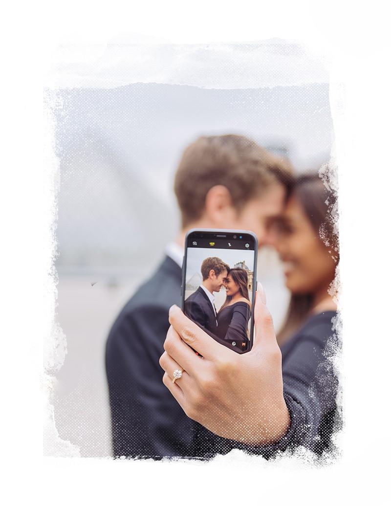 como pedir matrimonio en paris con gloria villa fotografía