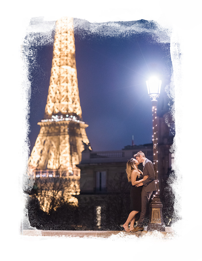 Paris proposal nighttime gloria villa