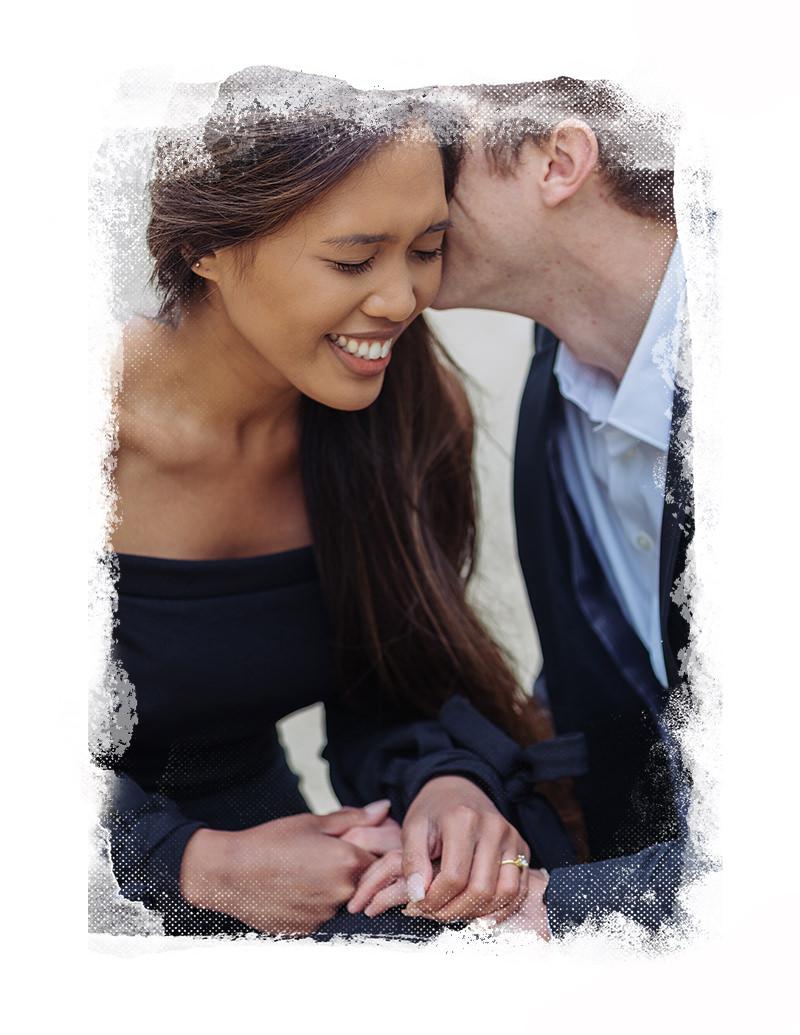 sesión de fotos de pareja en paris con gloria villa