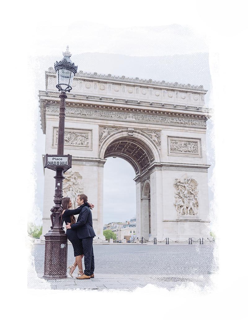 sesión de fotos de compromiso en paris con gloria villa