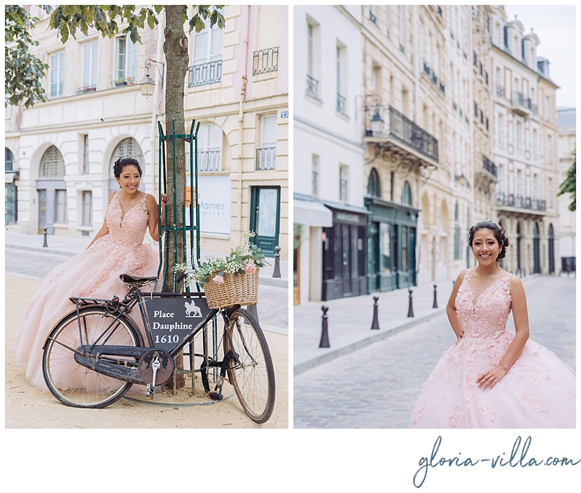 parisian quinceanera photoshoot by gloria villa
