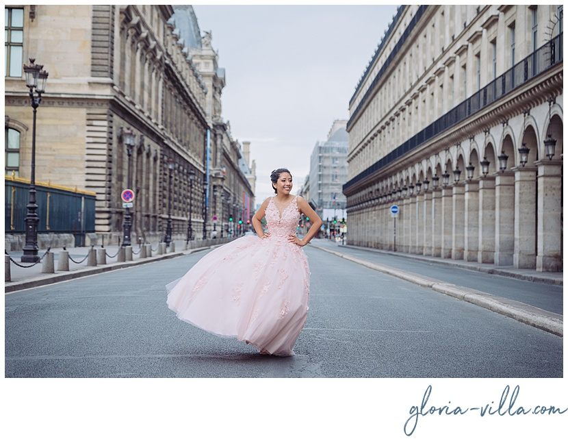 quinceanera trip to paris by photographer gloria villa