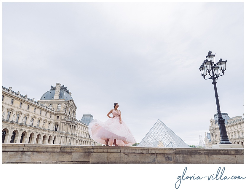 Paris decoration quinceanera party photoshoot by photographer gloria villa