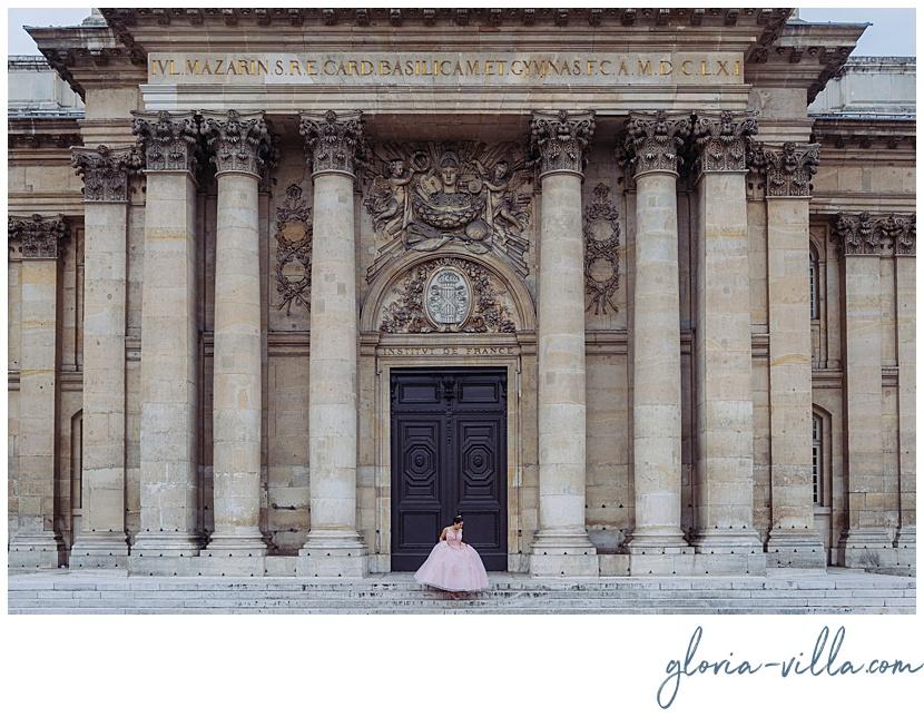 celebración de quinceañera en París con fotos por fotógrafa Gloria Villa