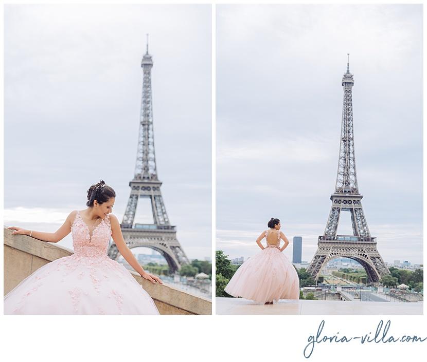 viaje de quince a paris con sesión de fotos y gloria villa