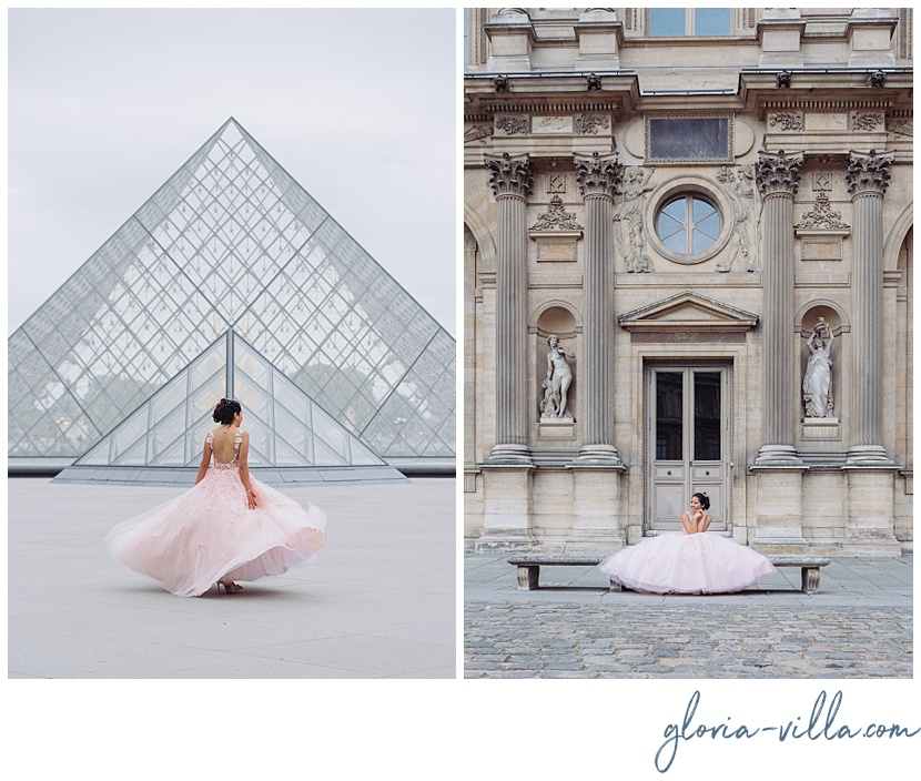 quince años en Paris by Paris Photographer Gloria Villa