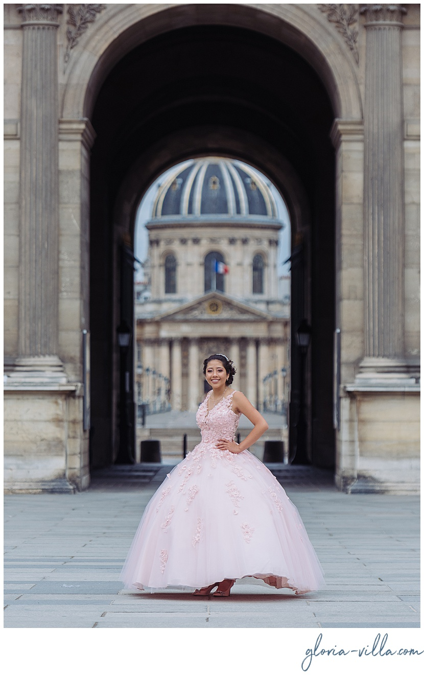 Quinceanera in europe trip by Paris photographer Gloria Villa