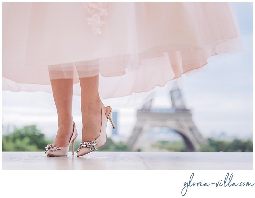 glamorous quinceanera photoshoot by Paris photographer Gloria Villa