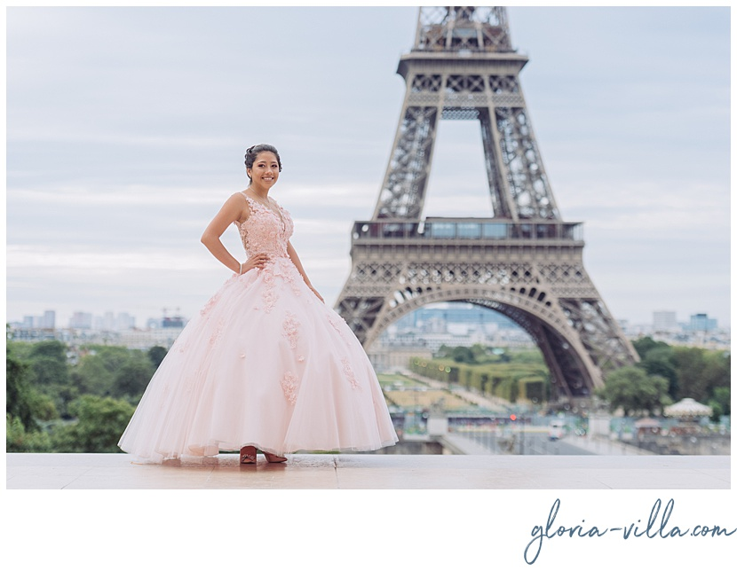Quinceanera dress ideas for paris photoshoot by gloria villa