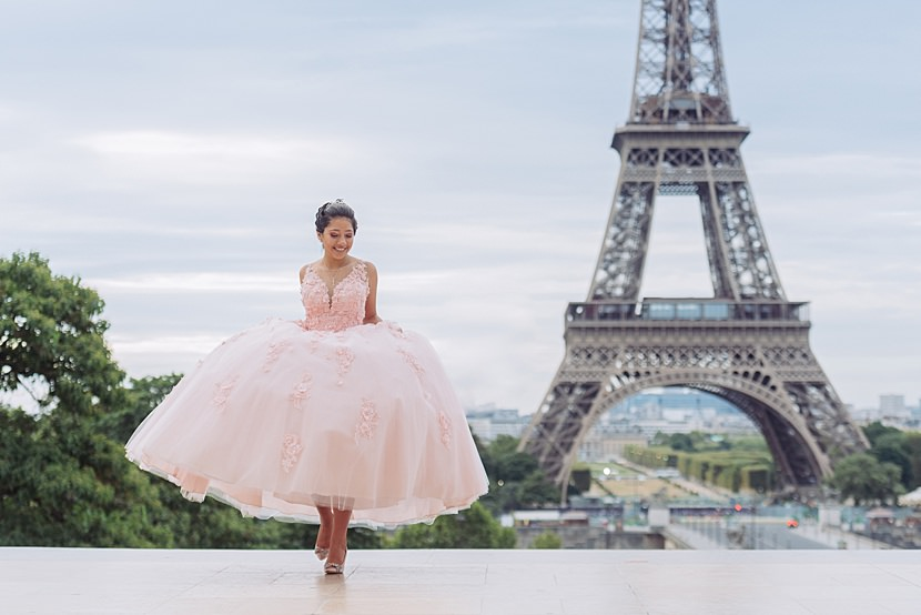 paris quinceanera celebration photoshoot by photographer gloria villa