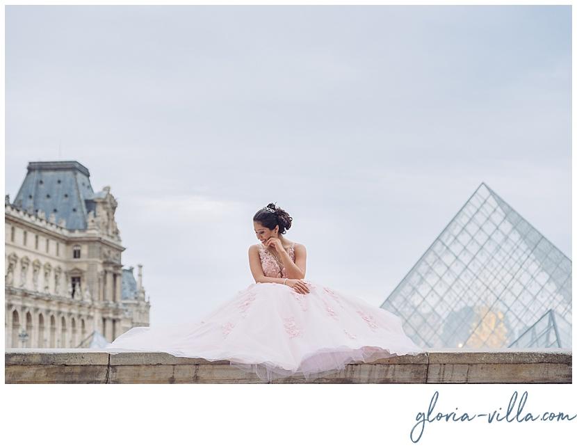 fotos de quinceañera en Paris por gloria villa