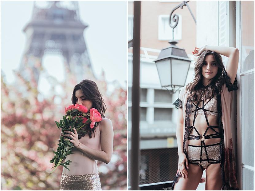 fotografía de boudoir en Paris con Gloria Villa