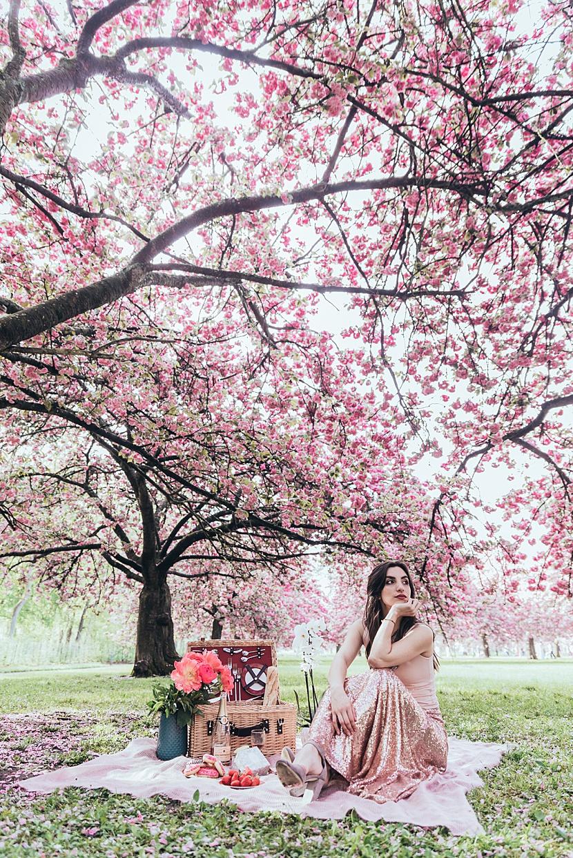 fotos en primavera en Paris con Gloria Villa